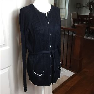 Brooks Brothers Silk Cotton Cardigan Sweater
